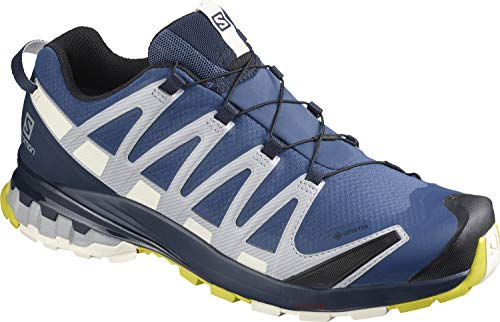Salomon Men's Trail Running Shoes, XA PRO 3D v8 GTX, Colour: Blue (Dark Denim/Navy Blazer/ Vanilla Ice), Size: UK size 9
