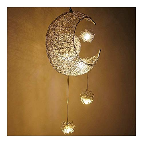 JSZMD Garland Moon and Stars Gift Chandelier, in Bedroom for Children