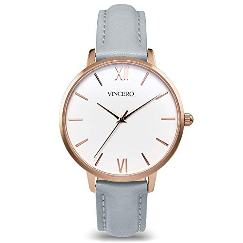 Vincero Luxury Women's Eros Wrist Watch — Rose Gold + White dial with a...
