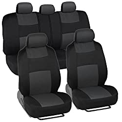BDK PolyCloth Black/Charcoal Gray- Seat Covers For Tacoma