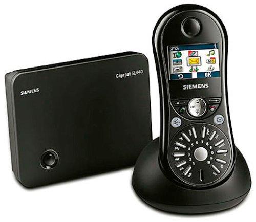 Siemens Gigaset SL440 lackschwarz, schnurlos Telefon DECT, Farbdisplay, Sound Recorder und Headset-Anschluss, PC-Schnittstelle
