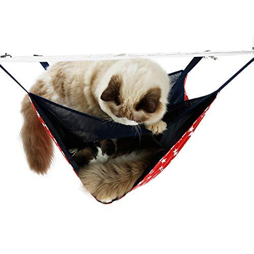 Cuteboom Hamaca para Gato, 2 Niveles, Transpirable, Cama para Gatos/Gatos Adultos, Jaula de Doble Capa para Mascotas, Primavera/Verano/Invierno