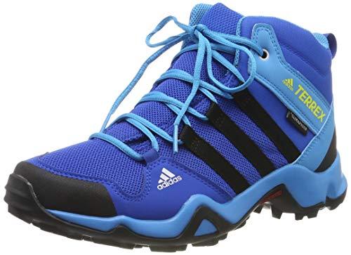 adidas Terrex Ax2R Mid CP K, Zapatillas de Marcha Nórdica Unisex Adulto, Azul (Blue Beauty/Core Black/Shock Yellow Blue Beauty/Core Black/Shock Yellow), 39 1/3 EU