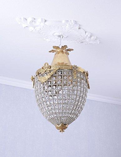 GROSS Deckenlampe Rokoko Lüster Kristall Lampe Deckenleuchte Shabby Chic