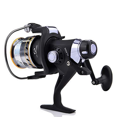 Carrete de pesca de mar 8 + 1 rodamientos de bolas izquierda / derecha intercambiable Mar de giro del carrete XL3000-6000 Serise Carrete de pesca Suministros de pesca ( Color : Black , Size : XL5000 )