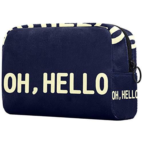 Kosmetische Reisetasche, Make-up-Fall, Make-up-Tasche, Geburtstagsgeschenk, Jubiläumsgeschenk - Wort Oh Hallo