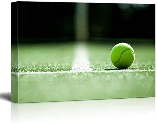 HUA JIE Kit para Colgar Cuadros Pelota de Tenis Ace en canchas de césped Grand Slam Major Tournament Canvas Home Art Decoraciones para el hogar para el Dormitorio