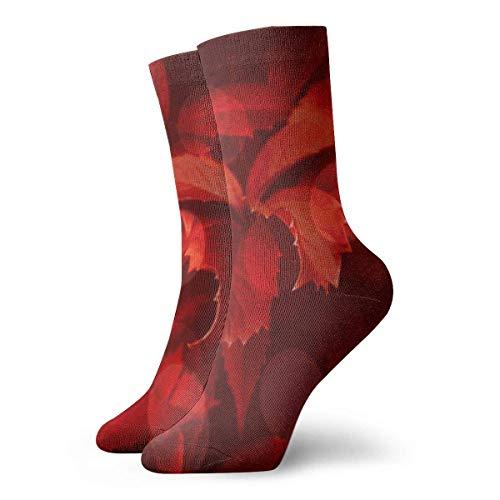 Rexing Lustige Socken,Kompressionssocken,Freizeitsocken,Calcetines En Tonos Rojos,Calcetines Festivos, 30CM,Calcetines Deportivos Cortos,Calcetines Casuales Unisex