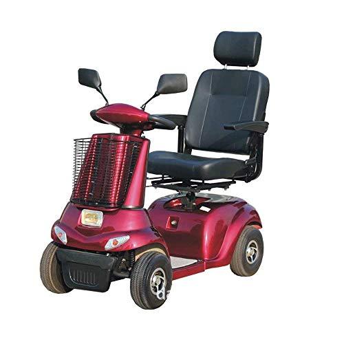 Decoración de muebles Silla de ruedas para discapacitados Estructura de acero eléctrica ligera Operación de la manija de la scooter Sistema de frenos electrónicos Conducción segura y estable con ce