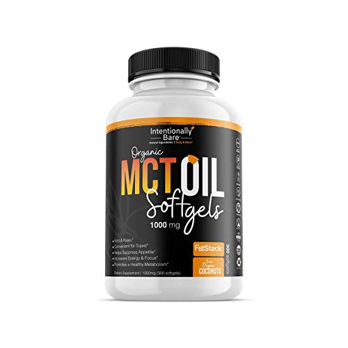 Intentionally Bare MCT Oil Bundle – Organic – High C8 Caprylic Acid - Home and Away - Appetite Suppressant, Metabolism Boosting, Helps with Intermittent Fasting and Ketosis 2