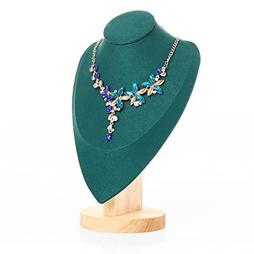 Soporte de joyería Elegante 3D de terciopelo collar de joyas de exhibición modelo busto soporte collar cadena exhibición busto soporte soporte torre estante para dormitorio en casa organizador de joya