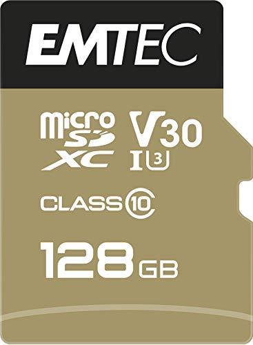 Emtec SpeedIN PRO 128 GB microSDXC Speicherkarte, Class 10, UHS-I (U3), V30