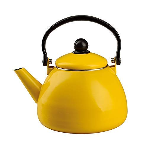 Daily Accessories Enameled Kettle Kettles Solid Color Series Fat Triangle Pot 1.5L