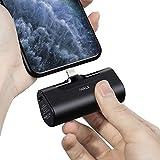 iWALK 超小型 モバイルバッテリー iphone 4500mAh Lightning コネクター内蔵 コードレス 軽量 直接充電 急速充電 iPhone 12/12 mini/12 Pro/12 Pro Max/SE2/11/XS/XR/X/8/8 Plus/7/6/6S/iPod 充電対応 PSE認証済 (iPhone 用, ブラック)