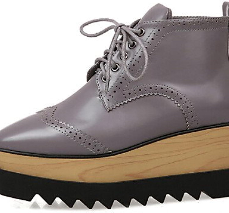 XZZ  Damenschuhe - - - Stiefel - Outddor - Kunstleder - Plateau - Komfort - Schwarz   Grau B01L1GW8LA  Billig ideal f51f50
