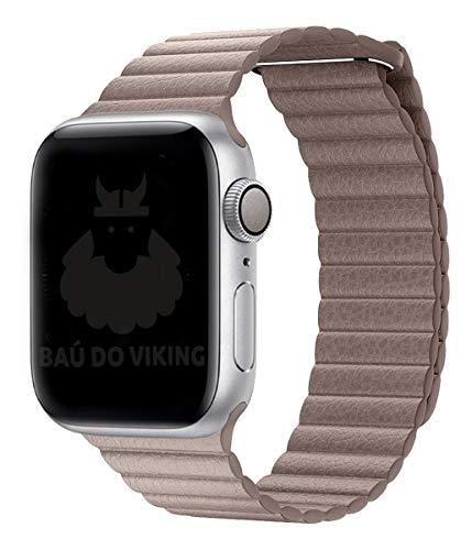 Pulseira Couro Loop, compatível com Apple Watch (Khaki, 38mm)