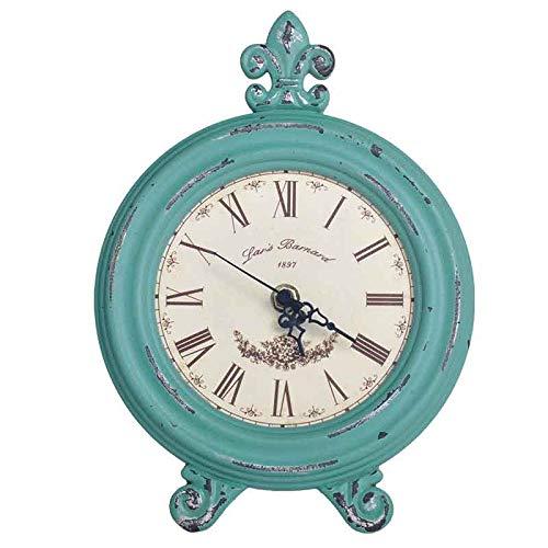 yywl Despertador retro nostálgico de madera, relojes de escritorio, redondos, para el hogar, decoración de mesa, alarma, reloj de pulsera, figura clásica, retro, regalo