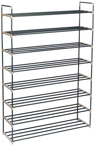Shoe Rack with 8 Shelves-Eight Tiers for 48 Pairs-For Bedroom, Entryway, Hallway, and Closet- Space Saving Storage and Organization by Home-Complete
