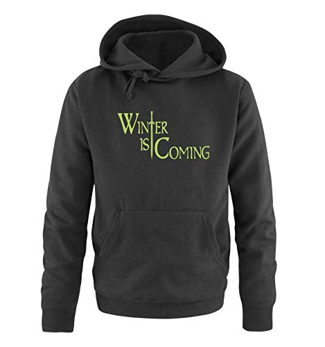 Just Style It - Winter is Coming - Style1 - Game of Thrones - Herren Hoodie - Schwarz/Grün Gr. M