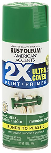 Rust-Oleum 327897 American Accents Spray Paint, 12 oz, Gloss Meadow Green, 12 Ounce