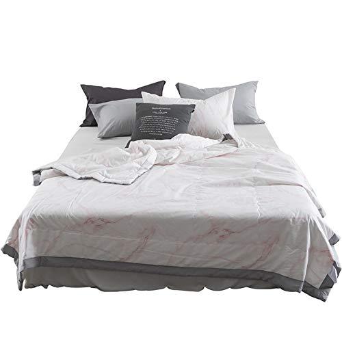 Teyun. Nordic Voll Cotton Doppel Personen Klimaanlage Quilts Summer Cool Decken geeignet for zu Hause (Color : Pink, Size : 150 * 200CM)