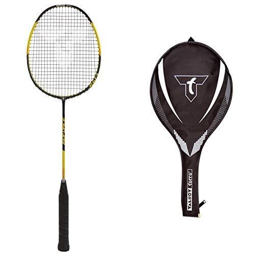 Talbot-Torro Badmintonschläger Isoforce 651.7, 100% Carbon4, Long-Shaft für viel Power, 439546 & Talbot-Torro 3/4 Badminton-Schlägerhülle, 449156