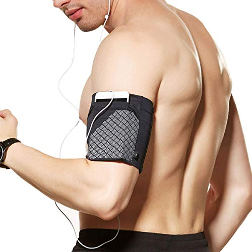 Cell Phone Armband for Running, Sports Armband for All Phones Fitness and Gym Workouts Universal (iPhone X/8/7/6/Plus,Samsung Galaxy S9/S8/S7/S6/Edge/Plus & LG,Huawei,Google,Sony & More) Black L
