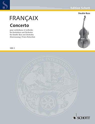 Calça jeans Schott Françaix – Concerto de Baixa Dupla – Concerto de Contrebasse e de Orquema
