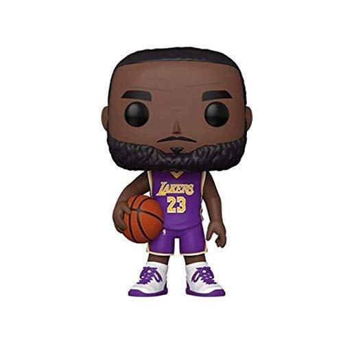 MXXT Pop Figure NBA Figure Lebron James #23 LA Aay Chibi PVC Q Version Vinyl 10cm Bobblehead