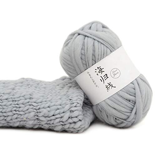 niumanery Grove wol DIY zachte sjaals pullover handgeweven haken breien natuurlijke draden 25 #
