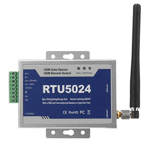 Toröffner GSM Opener Garagentor,GSM Tür Tor Opener Remote,Aus-Schalter Gratis Anruf SMS (RTU5024)