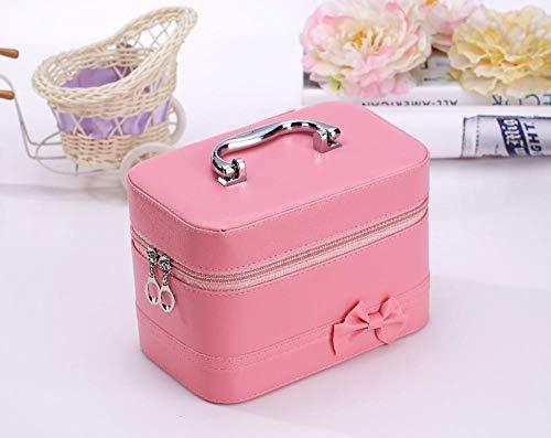 WEMUR Kosmetiktasche Kosmetikbeutel Schminktasche Großvolumige Cosmetic Bag-Rose Red (Color : Pink)