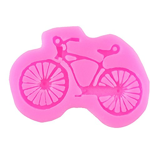 Qinlee Silikon-Form zum Backen und Basteln Fahrrad für Kuchen Muffins handgefertigte Seife Kekse Marzipan Fondant Schokolade Eiswürfel 3D Mould