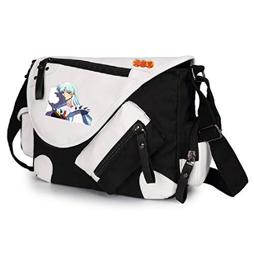 YOYOSHome Anime Inuyasha Cosplay Handtasche Crossbody Rucksack Messenger Bag Schultertasche, 1 (Schwarz) - 10030DJBgssdM