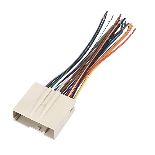 X AUTOHAUX 70-5520 Car Stereo CD Player Wiring Harness Wire Radio Adapter Install Plug for Ford Focus 2005-2007