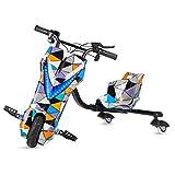 Ecoxtrem Kart Trike o Triciclo Drift eléctrico Infantil de 3 Ruedas con Pantalla LCD