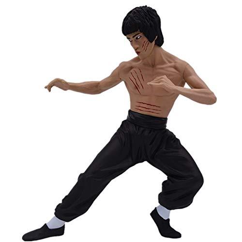 Dhl Film und Fernsehen Charakter Modell Bruce Lee Kung Fu Hero Vinyl Puppe Exquisitely Boxed 35cm (Color : Black)