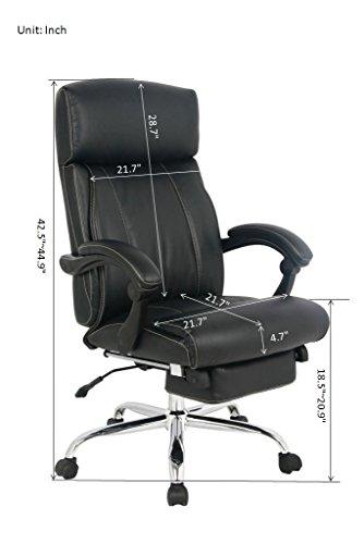 VIVA OFFICE Reclining Office Chair,...