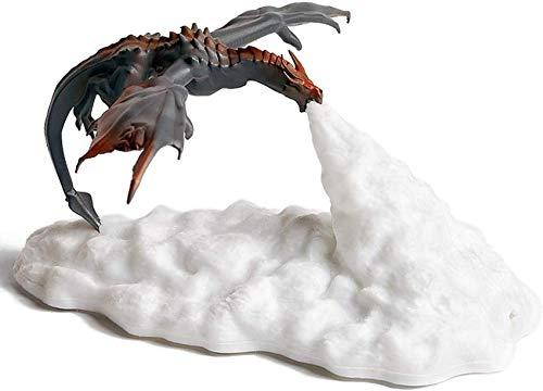 ZJDK Led Lamp Night Light,3D Printed Dragon Night Light USB Rechargeable Dragon Lighting Bedroom Christmas Halloween Birthday Gifts for Kids,Fire dragon