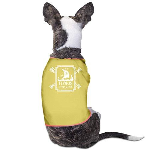 Florasun Floki's Shipyard, ropa de mascota, camisa de perro para gatos y perros pequeos, chaleco, ropa para cachorros, color amarillo