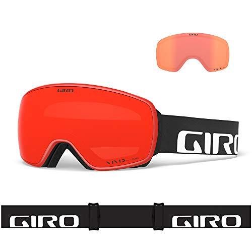 Giro Snow Herren Agent Skibrille, Black Wordmark Vivid Ember/Vivid Infrared, Einheitsgröße