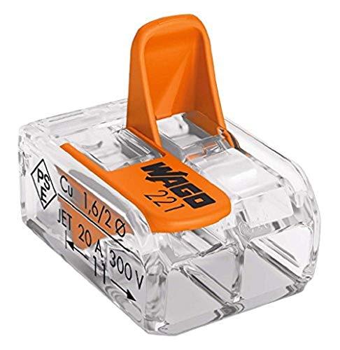 Wago WAG221342_BL10 Pack de 10 Bornes de connexion universelle tous conducteurs Type 221/2 entrées