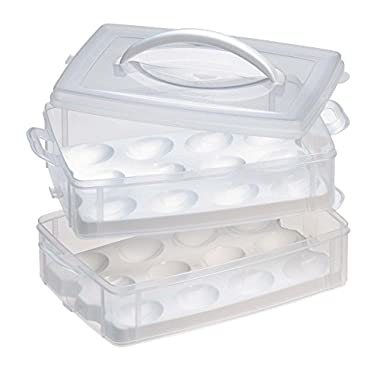 Snapware Snap 'N Stack 2 Layer Food Storage w/ Egg Holder Trays