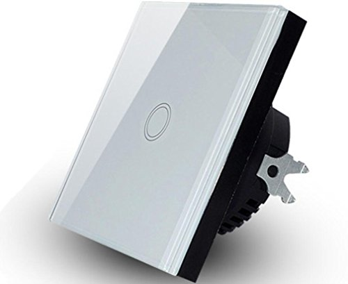 110 V-240 V Touch screen impermeabile interruttore della luce 1 marcia, 1 via, vetro touch screen