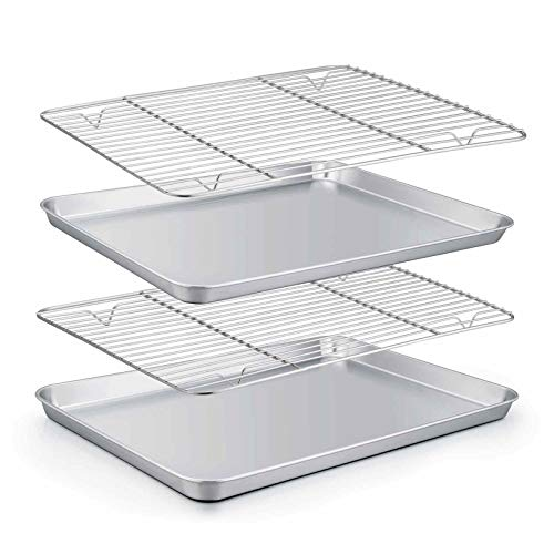 Stainless Steel Baking Sheet with Rack Set