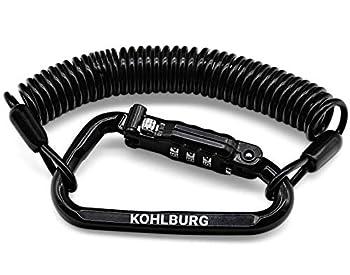KOHLBURG antivol à code de poche ultra long 180 cm - cadenas de 3 mm d'épaisseur pour poussettes, casques, snowboards & skis