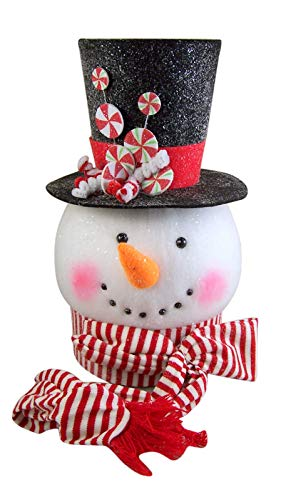 RAZ Imports Hot Chocolate Holiday Snowman Tree Topper 14'