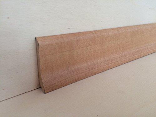Battiscopa in mdf rivestito tonalità rovere mm.70x16x2180 (prezzo per n° 5 aste ml. 10,90) (tonalità noce chiaro)