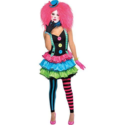 amscan - 999461 - Déguisement Ado Clown - Fille - 12-14 Ans