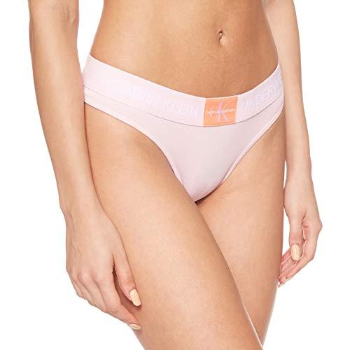 Calvin Klein Damen Thong Tanga, Rosa (Prarie PINK 5XV), 38 (Herstellergröße:M) (2er Pack)